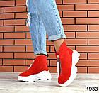Женские ботинки в красном цвете, из натуральной замши (в наличии и под заказ 3-14 дней), фото 4