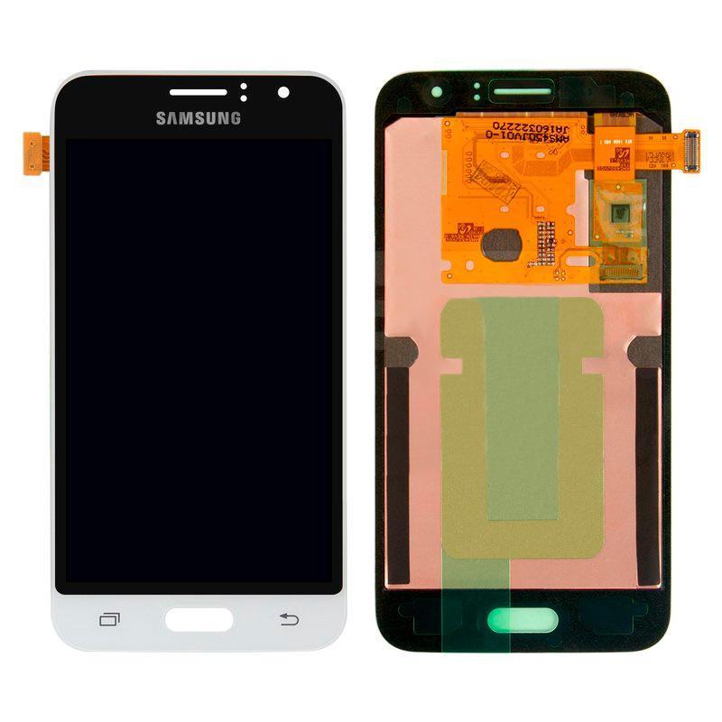 Дисплей и сенсор (модуль) на Samsung J120H (J1 - 2016) белый