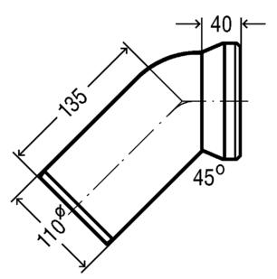 Колено 45 градусов (101718), фото 2