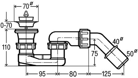 Сифон для душа 52мм (312138), фото 2