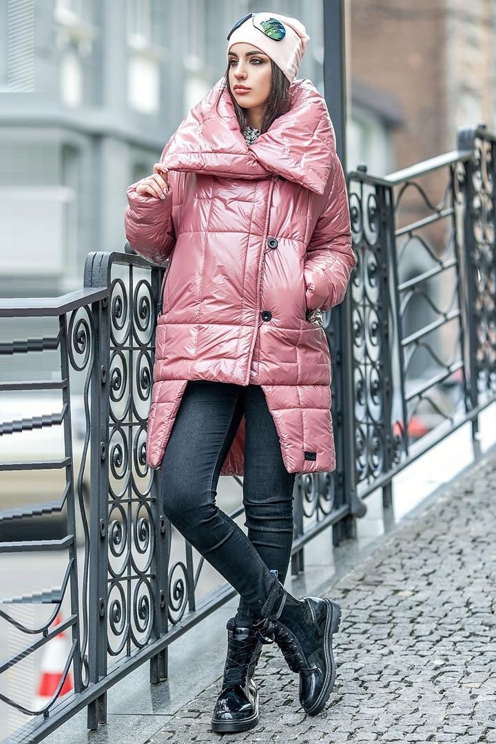 Ультрамодная женская куртка–пуховик Katrin (42–48р) в расцветках