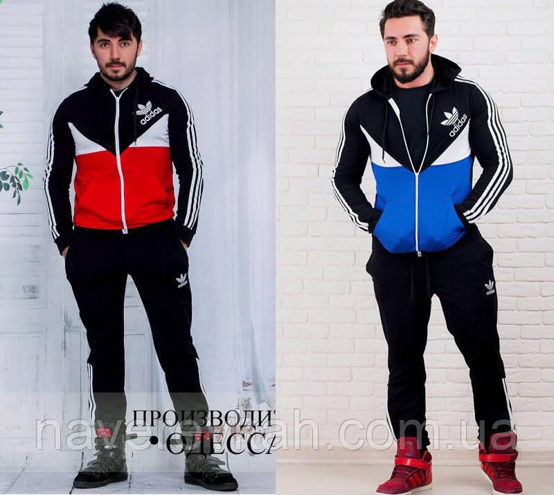 Мужской спортивный костюм черно-синий черно-красный 46 48 50 52