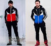 Мужской спортивный костюм черно-синий черно-красный 46 48 50 52, фото 1