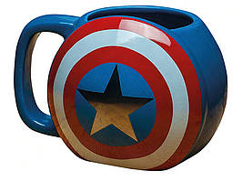 Чашка Щит Капитана Америки керамическая 3D Щит Капитана Америки