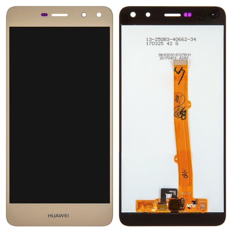 Дисплей і сенсор (модуль) на Huawei Y5 2017 золотий