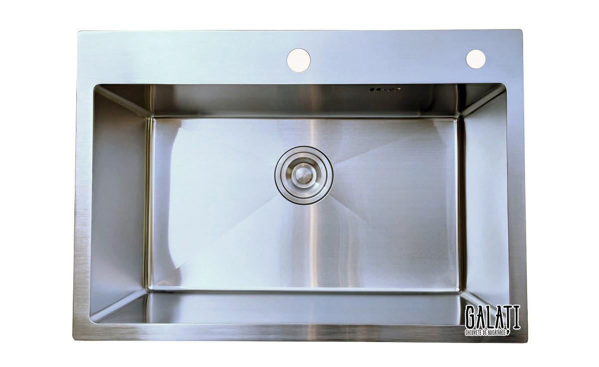 Кухонная мойка врезная под столешницу 65*45*23 см Galati Arta U-600 (бесплатная доставка)