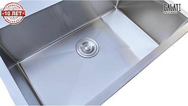 Кухонная мойка врезная под столешницу 65*45*23 см Galati Arta U-600 (бесплатная доставка), фото 3