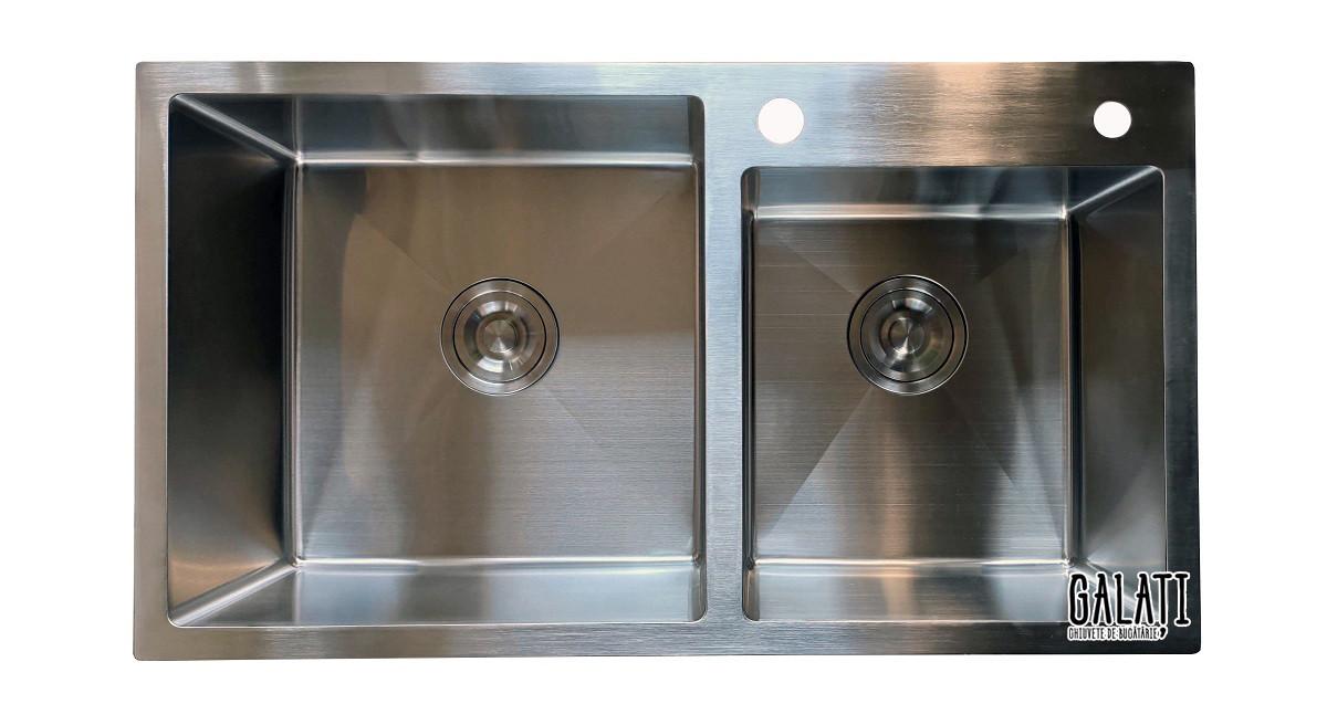 Кухонная мойка врезная под столешницу 80*45*23 см Galati Arta U-750 (бесплатная доставка)