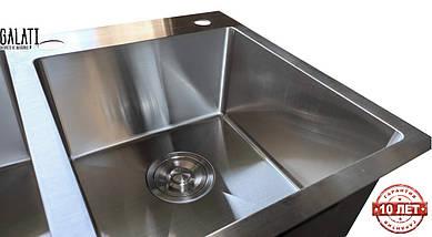 Кухонная мойка врезная под столешницу 80*45*23 см Galati Arta U-750 (бесплатная доставка), фото 3