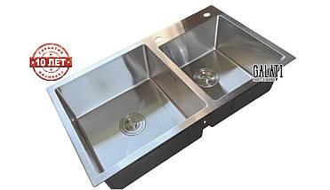 Кухонная мойка врезная под столешницу 80*45*23 см Galati Arta U-750 (бесплатная доставка), фото 2