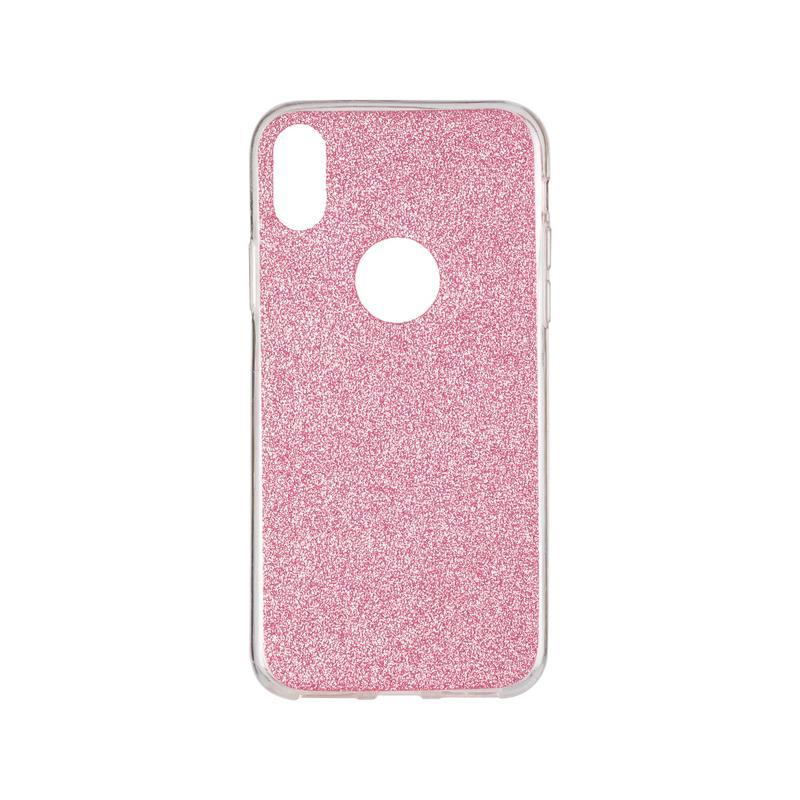 Remax Glitter Silicon Case iPhone X Pink
