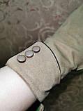 Замш тонкий женские перчатки стильные только оптом, фото 3