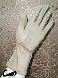 Замш тонкий женские перчатки стильные только оптом, фото 4