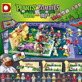 Конструктор Растения против Зомби набор из 16 шт  DLP9089  (Plants vs. Zombies)