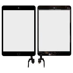 Сенсор (touchscreen) + Len iPad mini 3 с микросхемой черный оригинал китай