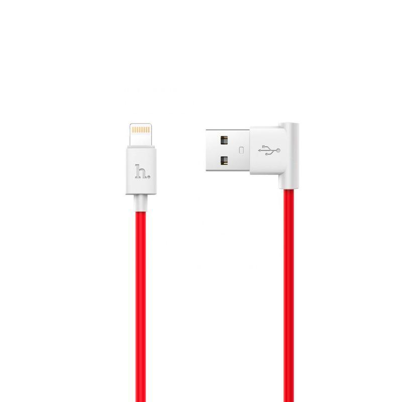 USB Cable Hoco UPL11 iPhone 6 (L Shape) Red 1.2 m