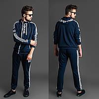Мужской спортивный костюм синий 46 48 50 52