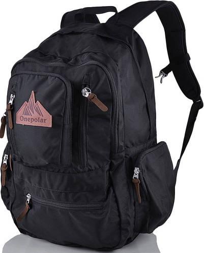 """Прочный рюкзак с отделением для ноутбука 15,4"""" на 28 л. ONEPOLAR (ВАНПОЛАР) W1770-black черный"""