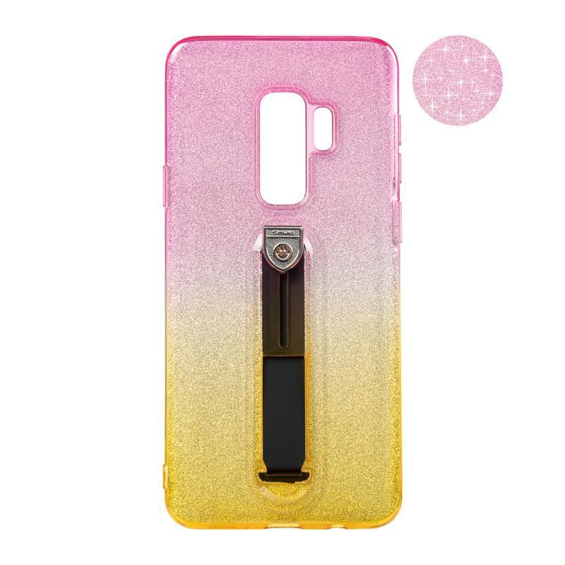 Remax Glitter Hold Series for Samsung G965 (S9 Plus) Yellow/Pink