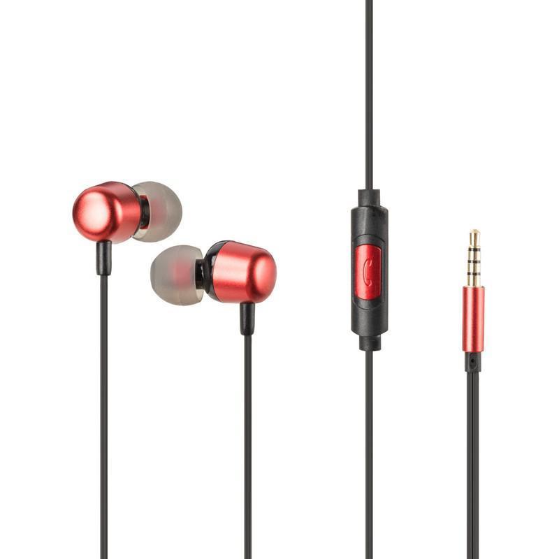 Навушники Hoco M31 червоного кольору з мікрофоном