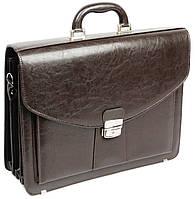 Мужской портфель из эко кожи Jurom Польша 0-30-112 коричневый