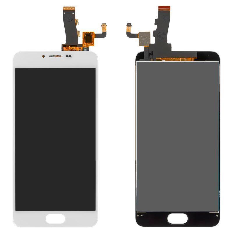 Дисплей и сенсор (модуль) на Meizu M5 белый