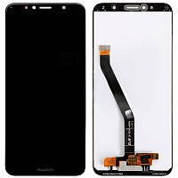 Дисплейный модуль (LCD + touch) Huawei Y6 (2018) черный