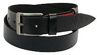 Мужской кожаный ремень под джинсы Skipper 1019-38 черный ДхШ: 130х3,8 см.