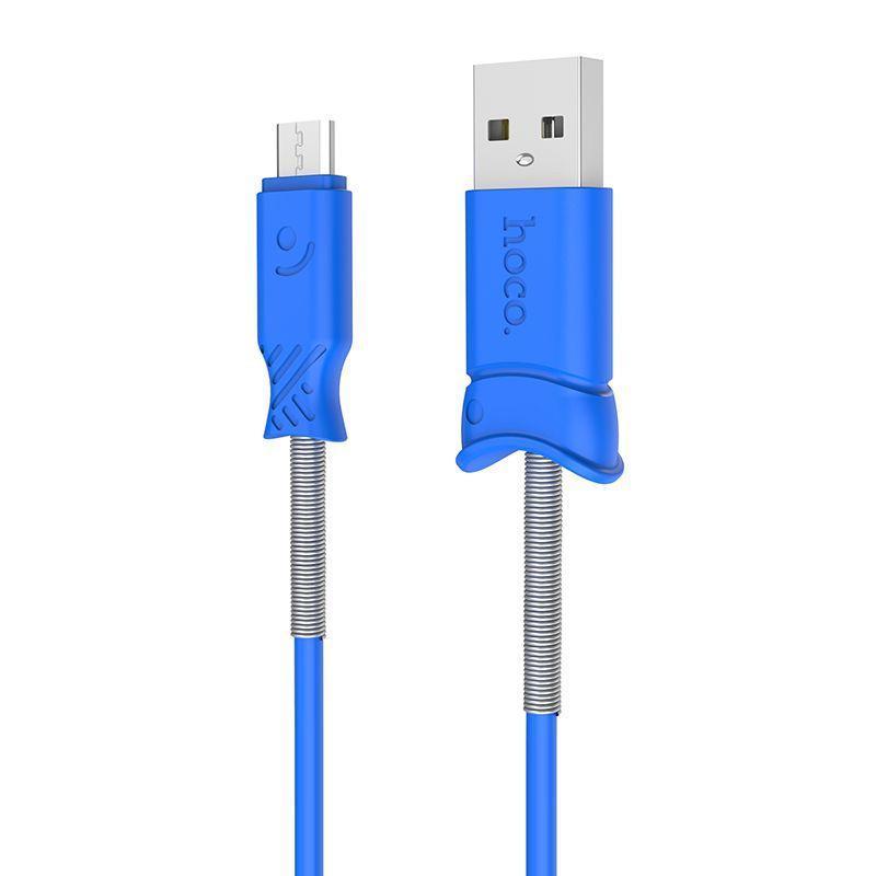 USB Cable Hoco X24 Pisces MicroUSB Blue 1m