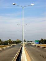 Осветительные опоры металлические, столбы оцинкованные для наружного освещения улиц