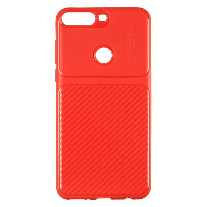 IPaky Carbon Thin Seria for Huawei Y7 Prime (2018) Red