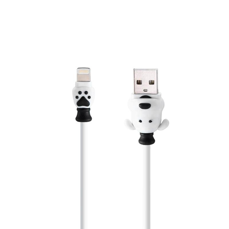 USB Cable Remax (OR) Dog Styled RC-106i iPhone 7 White 1m