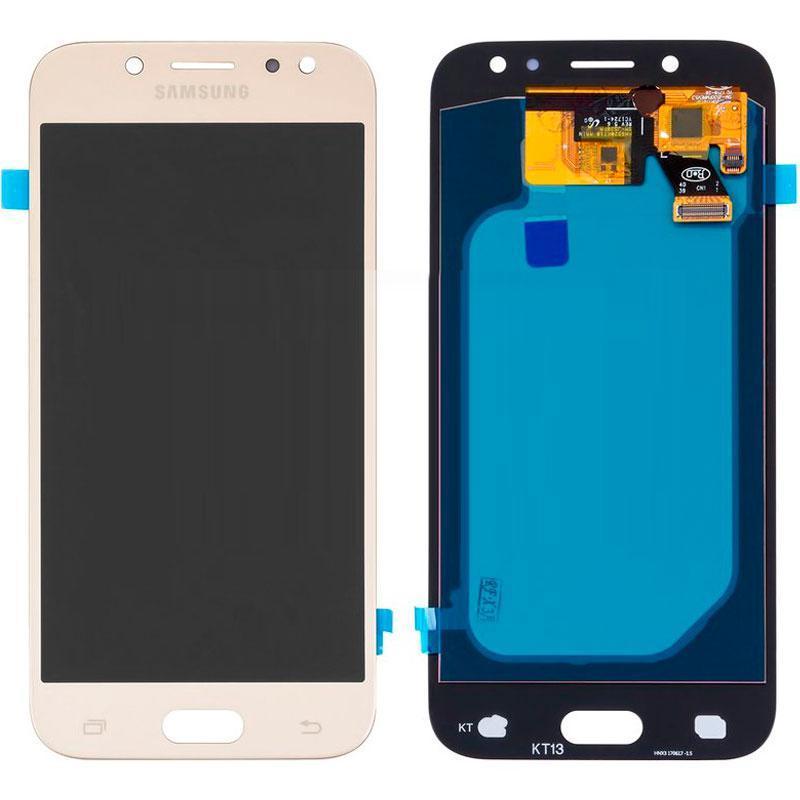 Дисплей и сенсор (модуль) на Samsung J530H, J5 - 2017 золотой
