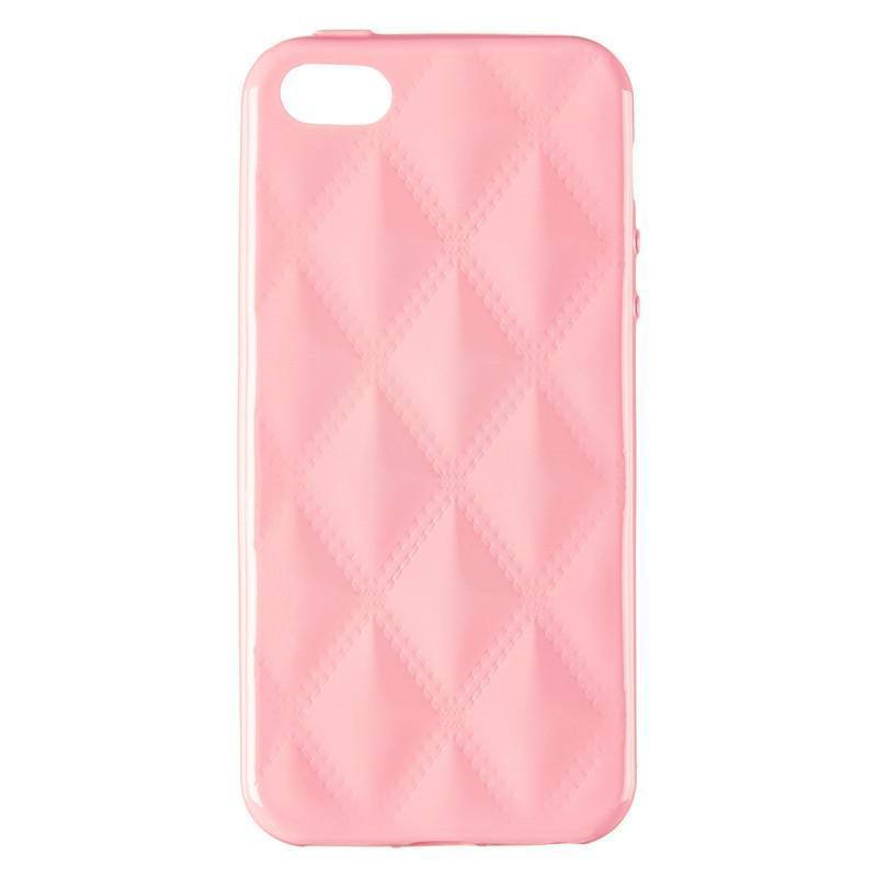 Baseus Rhombus Case for iPhone 5 Light Pink