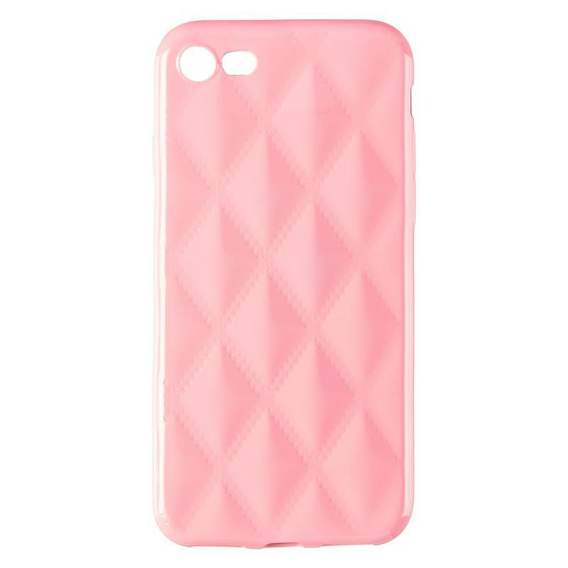 Baseus Rhombus Case for iPhone 7/8 Light Pink