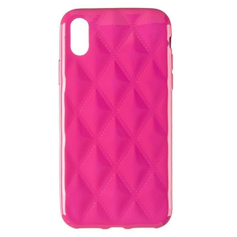Baseus Rhombus Case for iPhone X Pink