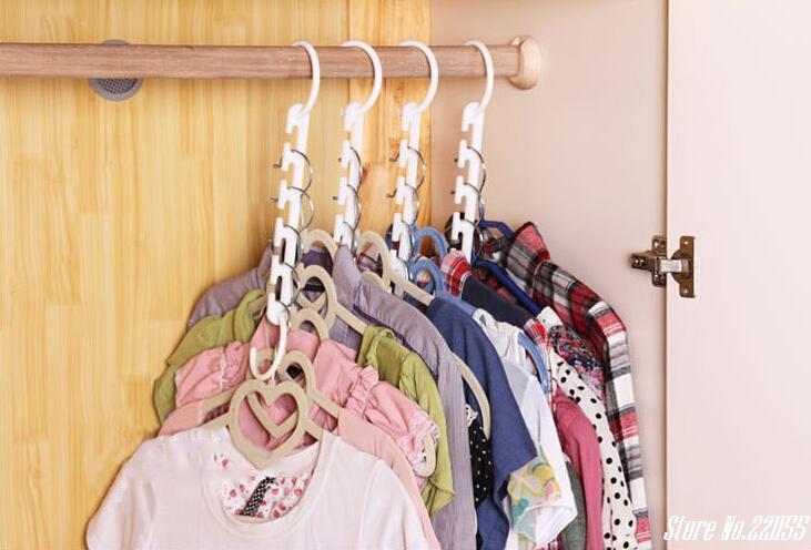 Набор универсальных вешалок, Супер универсальная вешалка для одежды (8 вешалок в упаковке) TRIPLES CLOSET SPACE