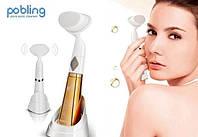 Ультразвуковая щетка для умывания и чистки лица pobling face cleaner, для чистки лица Массажная щетка для лица