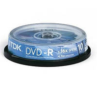Диск TDK DVD-R 4,7Gb 16x Bulk 10 pcs