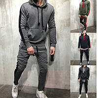 Мужской осенний спортивный костюм графитовый черно-белый черно-красный хаки 44-46 48-50 52-54, фото 1