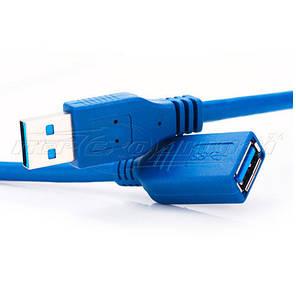 Кабель удлинитель USB 3.0 AM - AF, 0.5 м, синий, фото 2