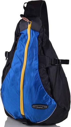 Городской мужской рюкзак-гитара  20 л. Onepolar (Ванполар) W1305-blue