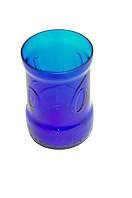 Стакан из синей стеклянной бутылки Cronenbourg