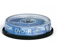 Диск TDK DVD-R 4,7Gb 16x Cake10 pcs