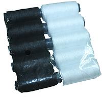 Нитки №10 (черные, белые, черные\белые) 10шт.:Черные/Белые