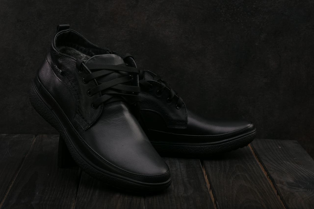 Ботинки мужские Vankristi 928 черные (натуральная кожа, зима)