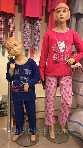 KSM пижама на девочку с начесом БАЙКА (5-14 лет), фото 2