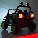 Дитячий електромобіль Джип M 3825 EBLR-4, Баггі, 4 мотора, Шкіряне сидіння, EVA гума, синій, фото 6