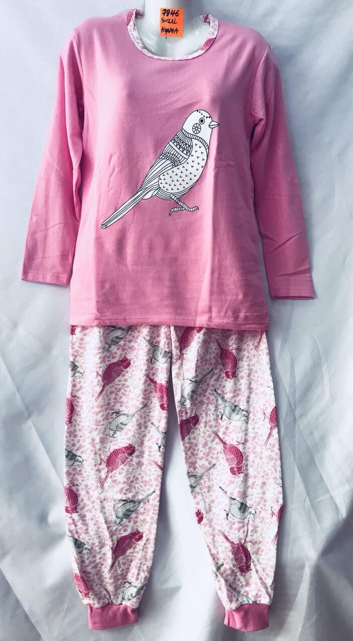 Женская пижама норма (тонкая байка) оптом со склада в Одессе.