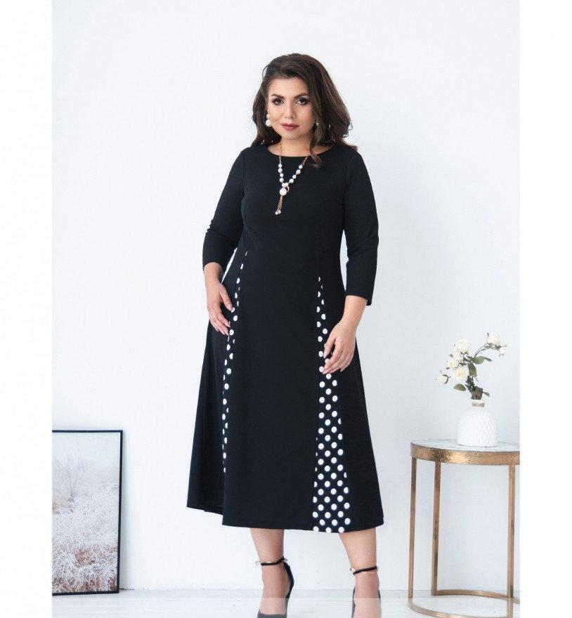Платье А-силуэта №462-черный